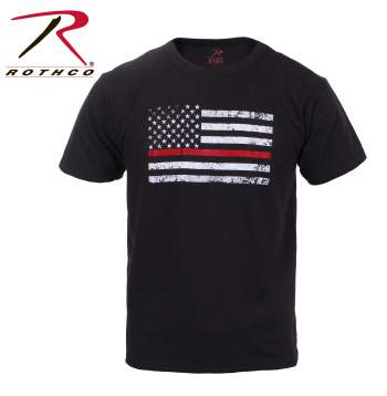 kids t-shirt, thin red line, thin red line flag t-shirt, t-shirt, red line, us flag