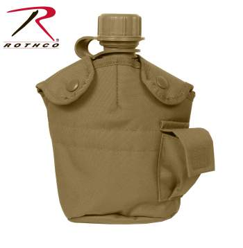 Rothco GI Style Molle Canteen Cover, government issue, molle, canteen, cover, nylon, multican, m.o.l.l.e., canteen cover, military surplus, military canteen, military supply, 612, 695