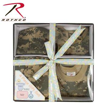 gift set,childrens gift set,babys gift set,infant gift set,clothes for infants,infant one piece,box set,gifts,4 pack,camo clothes,kids camo clothes,camo one piece for babies, one-piece, one piece, onesies, baby clothes,