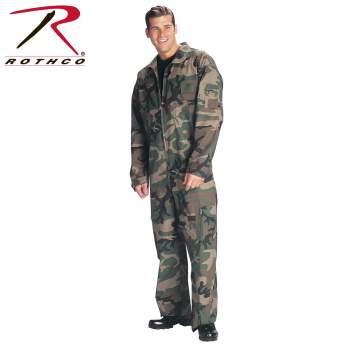 Airforce Kid/'s Flight Suit Flight Suit Coveralls Woodland Camouflage 7308