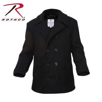 Rothco,Coat,peacoat coat,pea coat,peacoat,outerwear,winter coat,rain coat,raincoat,over coat,overcoat,mens coat,military jacket,navy jacket,wool jacket,wool peacoat,casual coat,casual jacket,navy blue,black, pea coats, mens pea coat, pea coat men
