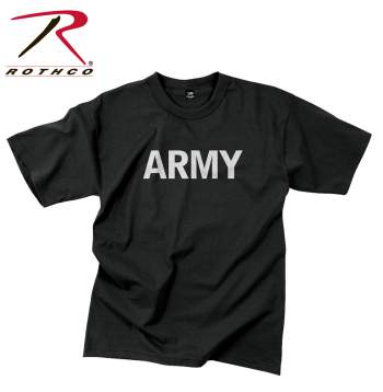 Rothco,t shirt print,graphic tee shirt,graphic tshirt,short sleeve t shirt,short sleeve tee,tee shirts,t shirt,t-shirt,cotton tee,cotton tshirt,cotton t-shirt,cotton poly,cotton polyester shirt,army tshirt,army t-shirt,army short sleeve,black tee,black tshirt,black t-shirt,army,graphic tee,black army,physical training,physical training tshirt,physical training t-shirt,Army Reflective Grey,reflective army shirt,reflective army tshirt,reflective army t-shirt