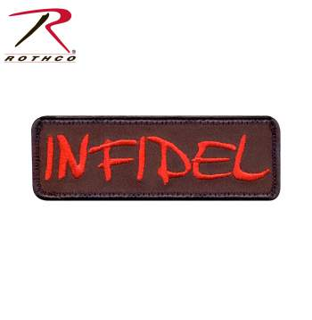 patch, infidel, infidel patch, patches, airsoft patches, morale patches, air soft patches, air soft patches, airsoft accessories, tactical morale patches, velcro morale patch, hook and loop morale patch, military morale patches, infidel morale patch, military morale patch