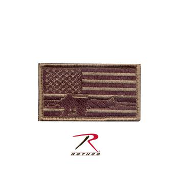 Rothco Subdued Flag, Rifle Patch, Hook Backing, flag rifle patch, airsoft patch, patches, subdued, morale patch, rothco morale patch, airsoft morale patch, subdued flag patch, flag and rifle patch, tactical patches, military morale patches, funny morale patches, moral patch, military velcro patches, tactical airsoft morale patches, airsoft morale patches, airsoft patches, morale patch