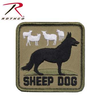 morale patch, patches, hook & loop patches, patches, military patches, tactical patches, airsoft patches, airsoft, tactical gear, sheep dog, sheepdog patch, sheepdog morale patch, rothco sheepdog patch, military morale patches, tactical morale patches, airsoft morale patches, tactical patches, military velcro patches