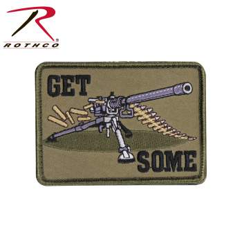 Rothco Get Some Patch, Hook Backing, hook and loop, get some, airsoft patch, patches, morale patch, rothco, wholesale patches, airsoft patches, tactical airsoft patches, military morale patches, military velcro patches, funny morale patches, tactical patches,