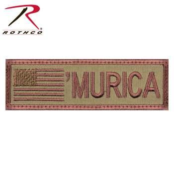 Rothco Murica Flag Patch, Murica, Merica, Flag Patch, Murica Patch, Merica Patch, US Patch, America Patch, America Flag Patch, USA Patch, USA Flag Patch, American Flag Patch, USA, America
