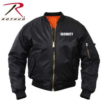Rothco,MA-1,Flight Jacket,Security,security jacket,security wear,ma-1 jacket,security clothing,security gear,bomber jacket,black,uniform jackets, security guard jacket, security jackets, security guard