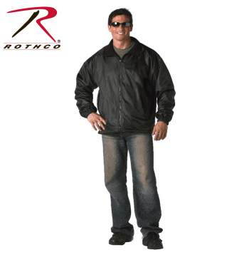 Rothco,Reversible Jacket,water proof,water proof jacket,rain wear,rain gear,rain coat,rain jacket,outerwear,rip stop,mylon,nylon jacket,polar fleece,black, jacket