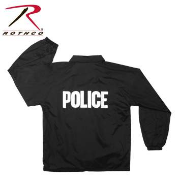 Rothco,Lined,Coaches Jacket,police,police jacket,police wear,police clothing,police gear,uniform jackets,law enforcement uniforms,black, tactical jacket, police jacket, tactical jackets, police raid jacket, police jackets