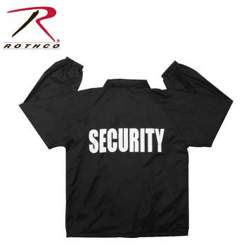 Rothco,Lined,Coaches Jacket,Security,security jacket,security wear,security clothing,security gear,uniform jackets,law enforcement uniforms,black, security guard jacket, security jackets