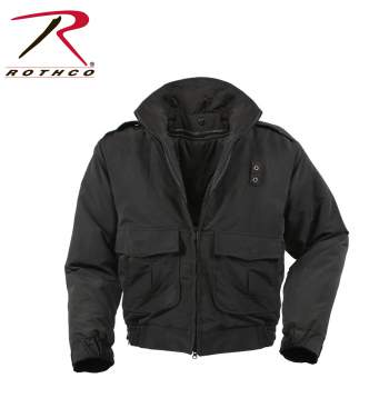 Rothco,Water Repellent Duty Jacket With Liner,rain jacket,rain coat,rain gear,rain wear,winter jacket,military jacket,tactical gear,outerwear,tactical jacket,dress coat,parka,mens parka,parka jacket,police jacket,police tactical gear,black,black jacket