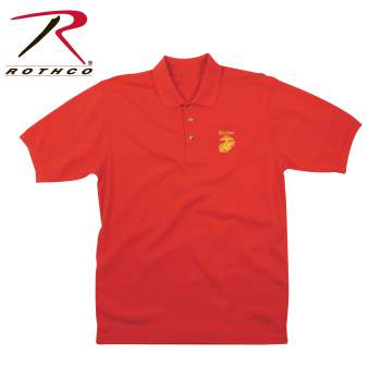 Rothco,Golf,Shirt,polo,casual wear,casual shirt,collared shirt,vintage,golf t shirts,embroidered golf shirt,polo golf shirts,golf shirt,embroidery golf shirts,Marines,red,USMC,Military Shirts,Military polos,Marines polo,Military Golf Shirts,Marines Golf Shirt