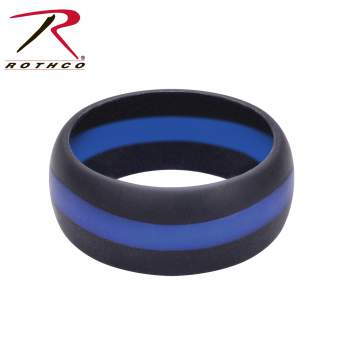 thin and wedding frost pin enforcement rings ring law blue band line titanium misc