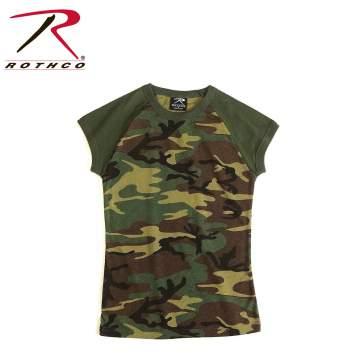 Raglan t-shirt, Raglan pink camo, pink camouflage t-shirt, subdued pink camouflage, pink camouflage, subdued pink camo,