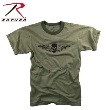 Rothco,t shirt print,tee shirt,short sleeve t shirt,short sleeve tee,tee shirts,t shirt,t-shirt,cotton tee,cotton tshirt,cotton t-shirt,skull wing tshirt,skull wing t-shirt,skull wing short sleeve,fashion tees,olive drab tee,olive drab tshirt,olive drab t-shirt,skull wing,graphic tee,vintage tee,vintage tshirts,vintage t-shirts