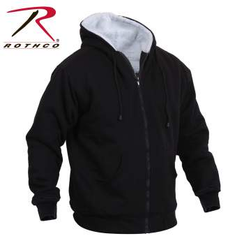 Rothco,Heavyweight,Sherpa,Lined,Zippered,Sweatshirt,Jacket,Zip Up,zipper sweatshirt,hooded zippered sweatshirts,mens sherpa lined hoodies,sherpa lined sweatshirts,sweatshirt,navy blue,charcoal grey,black,hoodies,Zipper hooded Sweatshirt
