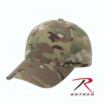 Rothco Low Profile Cap Multicam, cap, caps, hat, hats, low profile cap, low profile rothco cap, low profile hat, baseball cap, baseball hat,  ball caps, multicam, low profile multicam cap, polyester, poly cotton, ripstop, rip-stop, rip stop