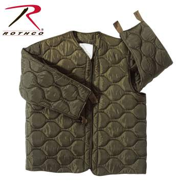 Rothco,M-65,Field Jacket,Liner,m-65 jacket,military jacket,military gear,water repellent,concealed hood,casual jackets,hooded jackets,army jacket,sports jackets,parka jacket,winter jacket,outerwear,tactical jackets,khaki,polyester,foliage green,cotton,black