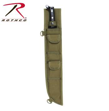 Machete Sheath, molle machete sheath, survival knives, machete holder, military machete, sheath, molle sheath, m.o.l.l.e, m.o.l.l.e machete knife sheath,zombie,zombies, Rothco 18 Inch MOLLE Compatible Machete Sheath