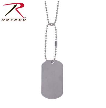 Rothco G.I. Type Dog Tag, Rothco dog tag, g.i. type dog tag, dog tag, dog tags, us army dog tags, military dog tags, dog tags for men, dog tags for women, army dog tags, galvanized iron, galvanized iron dog tags, g.i.s, G.I dog tags, necklace, jewelry, military jewelry, military necklace, id tags, military id tags, silver dog tags, military style dog tags, chains, silver chains, dog tag chains, gold dog tag, gold necklace, silver dog tag, silver necklace
