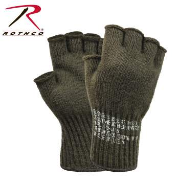wool gloves, fingerless gloves, wool fingerless gloves, gloves, military gloves, army gloves, GI gloves, finger less gloves, us made gloves, rothco gloves, gsa gloves