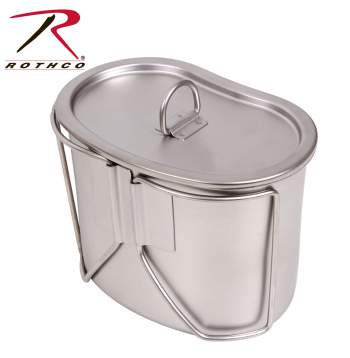 Rothco stainless steel canteen cup and cover set, canteen cups, canteen with lids, canteens with covers, canteen cover, canteen lid, stainless steel canteens, stainless steel canteen lid, camping canteen, water canteen, canteen water bottle, metal canteen,