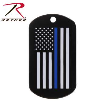 rothco thin blue line dog tag, thin blue line dog tag, thin blue line, dog tag, police dog tags, thin blue line dog tags, dog tags, military dog tags, thin blue line military dog tag, thin blue line police dog tag, police dog tag