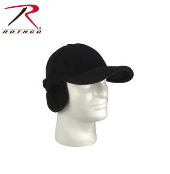 Rothco Fleece Low Profile Cap w/ Earflaps, Rothco low profile cap with earflaps, Rothco fleece low profile cap with earflaps, Rothco low profile cap, Rothco fleece low profile cap, fleece low profile cap with earflaps, fleece low profile cap, fleece cap, low profile cap, profile cap, cap, hat, cap with ear flaps, hat with ear flaps, fleece cap, ski hats, earflaps, polarfleece, ear flaps, polar wear, black polar low profile cap, black low profile cap, black cap with ear flaps, black fleece cap, black ski hat, fleece, fleece hat, fleece caps, ear muffs, cold weather gear, cold weather clothing, winter gear, winter clothing, winter accessories
