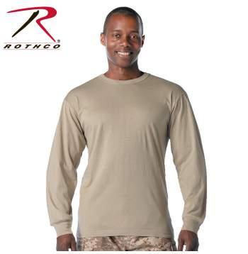 Rothco Desert Sand Long Sleeve T-Shirt, rothco long sleeve tshirt, t-shirt, tshirt, t-shirts, tshirts, desert sand, rothco, long sleeves, tee, long sleeve tee