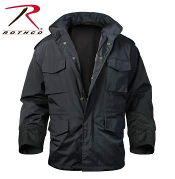 Rothco,M-65 Storm Jacket,m65 jacket,storm jacket,black jacket,military jacket,military coat,army jacket,overcoats,sports jackets,outerwear,winter coats,winter jacket,cotton,polyester,rain jacket,rain coat,rain gear,tactical jacket, uniform jacket