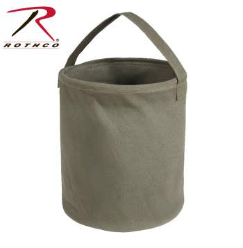 water bucket, bucket, canvas bucket, canvas, bucket,