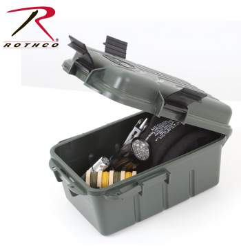 Rothco Survivor Dry Box, plastic survivor box, survival, survival gear, survivor dry box, ammo can, ammo cans, plastic box, ammo, prepper storage,zombie,zombies