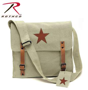 classic canvas bag, shoulder bag, medic star, vintage military bag, vintage medic star, rothco canvas bag, rothco vintage medic bag