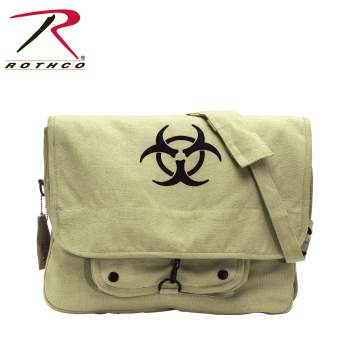 vintage messenger bag,vintage paratrooper bag,canvas paratrooper bag,paratrooper messenger bag,canvas shoulder bag,shoulder bag,napsack,book bag,bio-hazard symbol,bio hazard,crossbody bags, cross body bags, rothco bags, rothco messenger bags, rothco canvas bags