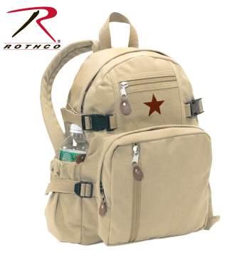 Rothco Vintage Canvas Mini Military Backpack Compact Bag 9152