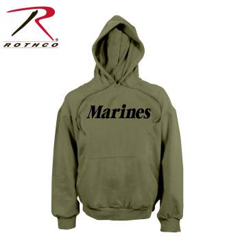 Rothco, hooded sweatshirt, pullover sweatshirt, sweatshirt, marines hooded sweatshirt, marines pullover sweatshirt, marines sweatshirt, fleece sweatshirt, marines fleece sweatshirt, hoodie, marines hoodie, outerwear, military sweatshirt, military outerwear, olive drab, olive drab hoodie, olive drab sweatshirt, olive drab hooded sweatshirt