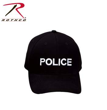 Rothco,Police,Supreme Low Profile,Insignia Cap,police hat,police cap,adjustable hat,adjustable police hat,work hat,law enforcement,law enforcement hat,black