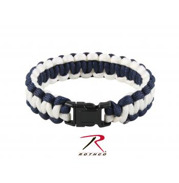 930 Rothco Two-Tone Paracord Bracelet Royal Blue Black Length 10 Inches