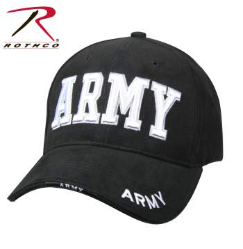 97b453156ac Rothco Deluxe Army Embroidered Low Profile Insignia Cap