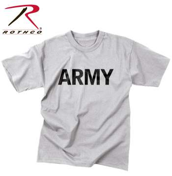 Rothco,t shirt print,tee shirt,short sleeve t shirt,short sleeve tee,tee shirts,t shirt,t-shirt,polyester tee,polyester tshirt,polyester t-shirt,army tshirt,army t-shirt,army short sleeve,army tees,army tee,army,moisture wicking,training tshirt,training t-shirt,moisture wicking tshirt,moisture wicking tee,moisture wicking t-shirt,physical training,physical training tshirt,physical training t-shirt,grey tshirt,grey t-shirt