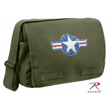 classic messenger bag, shoulder bag, canvas bag, canvas shoulder bag, vintage canvas, air corp, air corp symbol, vintage air corp symbol, crossbody bags, cross body bags, rothco bags, rothco messenger bags, rothco canvas bags, messenger bag, messenger bags, military messenger bags