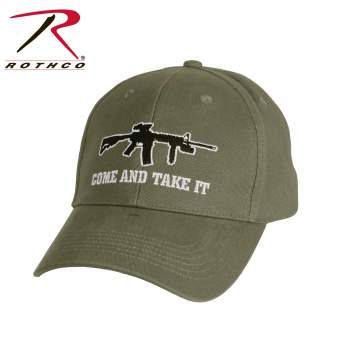 Rothco Come and Take It Deluxe Low Profile Cap, Rothco deluxe low profile cap, Rothco come and take it cap, Rothco low profile cap, Rothco cap, Rothco caps, come and take it, deluxe low profile cap, deluxe low profile caps, come and take it cap, come and take it caps, low profile cap, low profile caps, hat, hat, come and take it hat, low profile hat, low profile ball caps, ball caps, low profile ball cap, tactical ball cap, tactical ball caps, olive drab ball cap, olive drab hat, Molon labe, 2nd amendment,