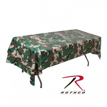 tablecloth, table cloth, camo, camouflage, camo accessories, camo table cloth, linens, plastic table cloth, disposable table cloths,