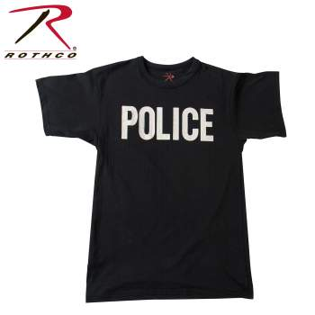 Rothco Imperfect 2-Sided T-Shirt / Police - Black