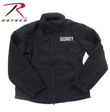 Specials ops soft shell security jacket, security jacket, soft shell jacket, tactical jacket, security tactical jacket, spec ops jacket, irregular security printed jacket, irregular security print, security printed jacket, black security jacket