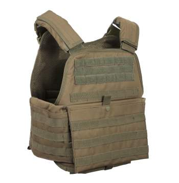 Rothco Molle Plate Carrier Vest - Reject Olive Drab