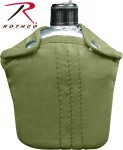 Rothco G.I. Style Canteen and Cover, G.I. Canteen, G.I. Style Canteen, Canteen, Canteen and Cover, Canteen With Cover, army canteen, military canteen, army canteen with cover, military canteen with cover, 1-quart canteen, aluminum canteen, aluminum canteen with cover, aluminum military canteen, aluminum army canteen
