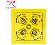 Rothco Don't Tread On Me Bandana, don't tread on me, bandana, headwear, headwrap, head wrap, bandanna, gadsden flag, don t tread on me flag, usa bandana, bandanas