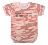 Infant One-piece,baby one-piece,new born clothing,infant clothing,unisex baby clothes,camo,camouflage,camo one-piece,oneies,camo oneies,toddler clothing,pink camo,pink camouflage,thank my dad